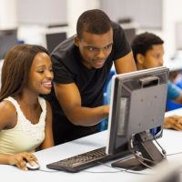 17718246 - group african university students in computer room